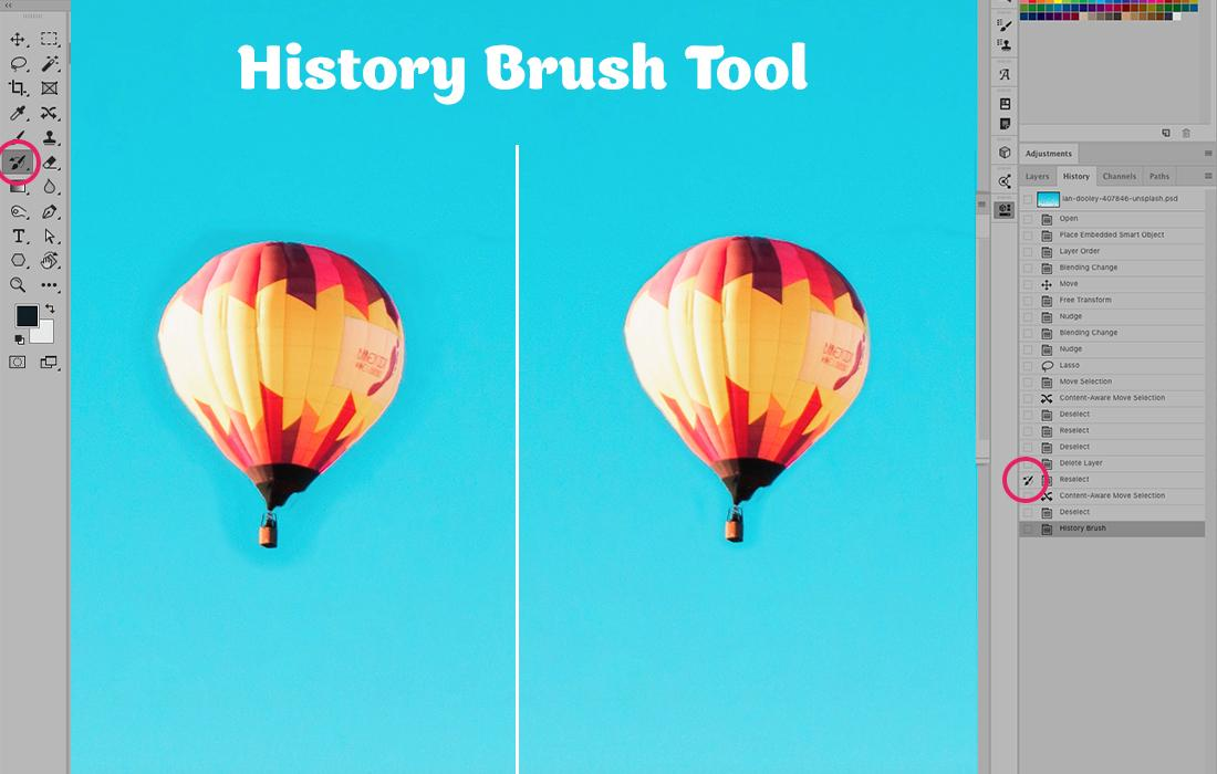 How to use the History Brush Tool in Photoshop
