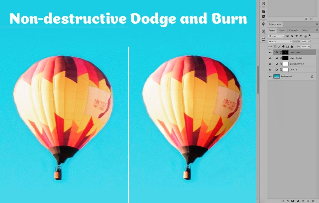Non-destructive Dodge and Burn Technique in Photoshop