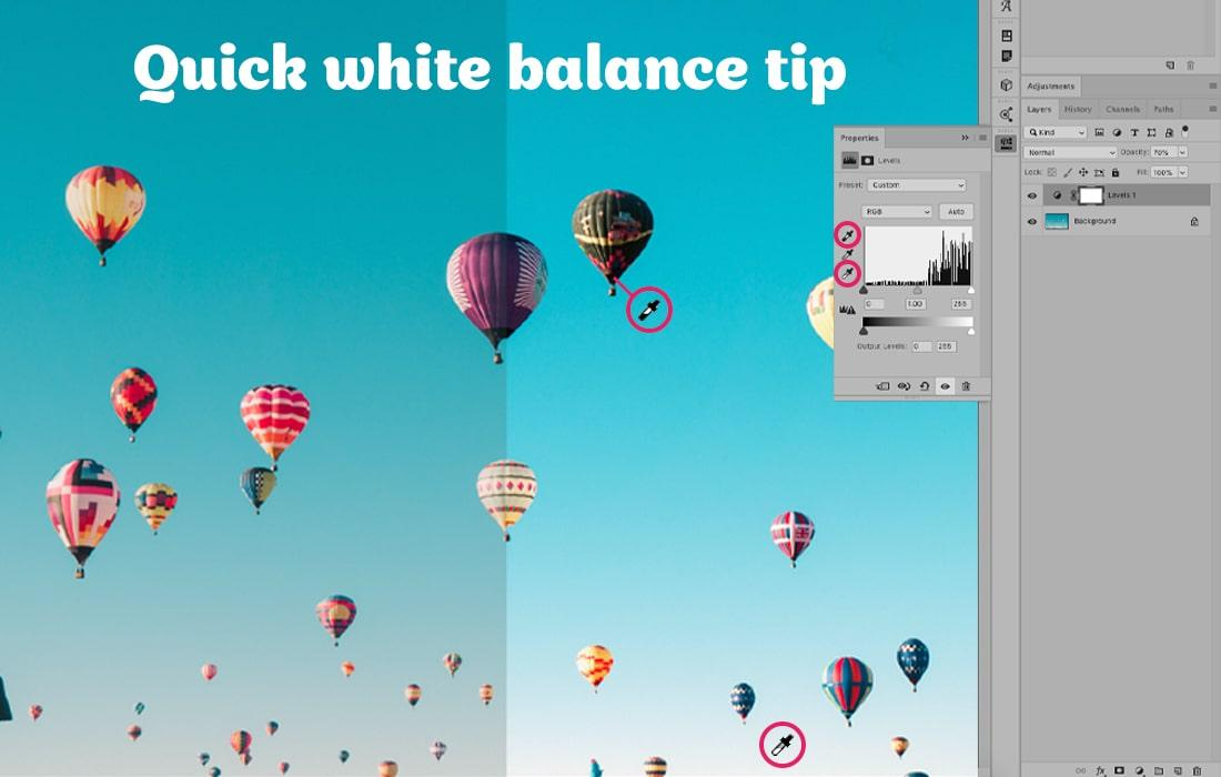 Quick white balance tip in Photoshop