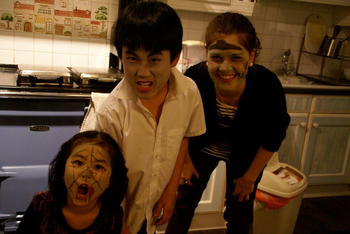 Evelyn and Kids at Halloween
